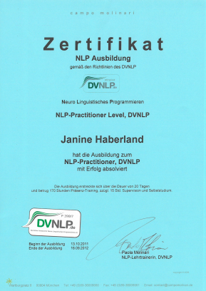 NLP-Practitioner Level, DVNLP